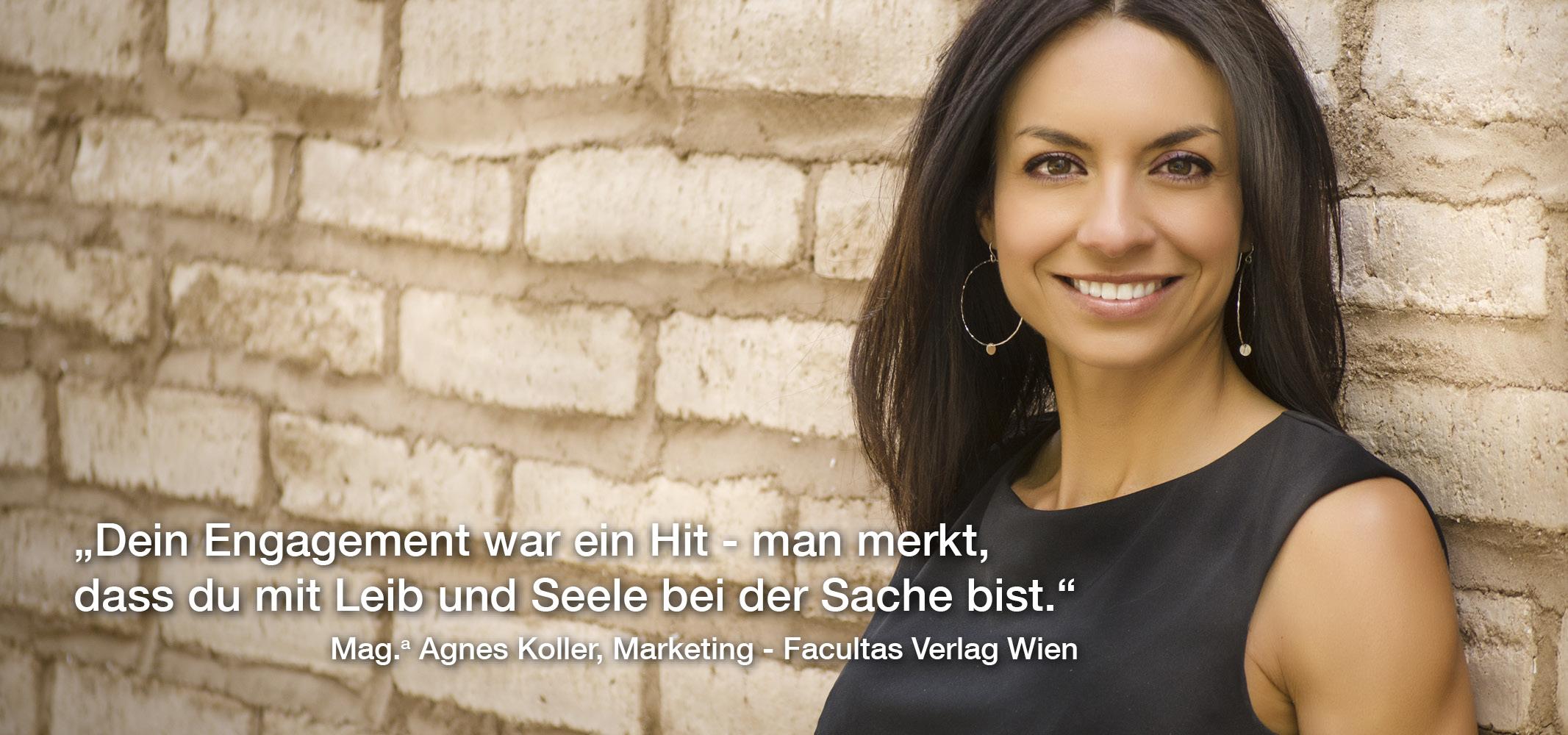 Referenzstimme Mag. Agnes Koller
